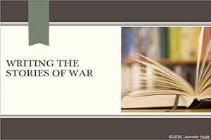 Writing Stories of War PresImage