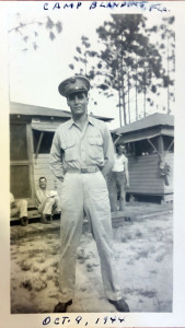 Paul Gurgone Oct 1944 Camp Blanding, FL. Photo courtesy Ron Santilli.