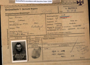 Russell, Clarkson POW photo card