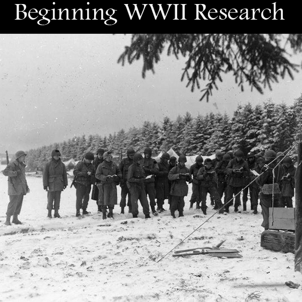 Beginning WWII Research