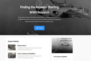 Finding the Answers Starting WWII Research