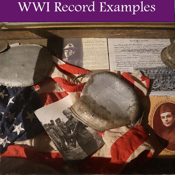WWI Record Examples